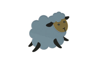 Cute Cloudy Sheep Farm Animals Embroidery Design By DigitEMB