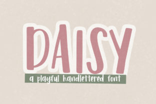 Print on Demand: Daisy Display Font By dansiedesign