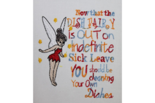 Dish Fairy Saying Fairy Tales Embroidery Design By Wingsical Whims Designs