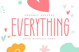 Print on Demand: Everything Script & Handwritten Font By OKEVECTOR