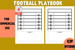 Print on Demand: Football Playbook | KDP Interior Graphic KDP Interiors By Cool Worker