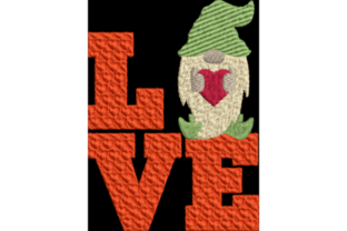 Gnome Love Valentine's Day Embroidery Design By Wingsical Whims Designs