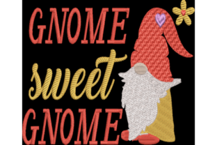 Gnome Sweet Gnome Fairy Tales Embroidery Design By Wingsical Whims Designs