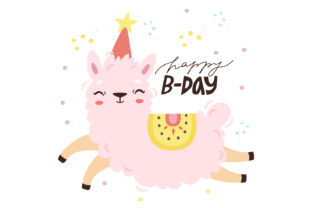 Print on Demand: Happy Birthday Greeting Card Graphic Illustrations By Zweed n roll Clipart