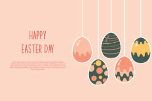 Print on Demand: Happy Easter, Easter Eggs Greeting Card Graphic Logos By DEEMKA STUDIO
