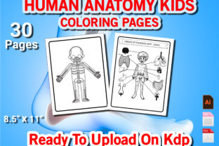 Print on Demand: Human Anatomy Kids Coloring Book Graphic KDP Interiors By Duaa Store
