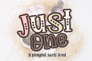 Print on Demand: Just One Display Font By artype07