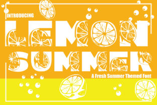 Print on Demand: Lemon Summer Decorative Font By KtwoP