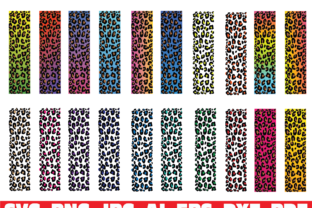 Print on Demand: Leopard Print Glitter Pen Wraps Graphic Illustrations By Sofiamastery