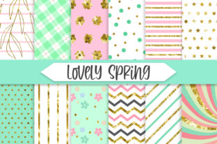 Print on Demand: Lovely Spring Glitter Background Graphic Backgrounds By PinkPearly