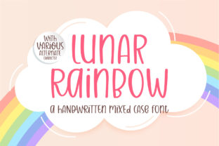 Print on Demand: Lunar Raninbow Script & Handwritten Font By BitongType