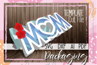 Print on Demand: 💝 MOM + HEART BOX 💝 Graphic 3D SVG By Marcel de Cisneros