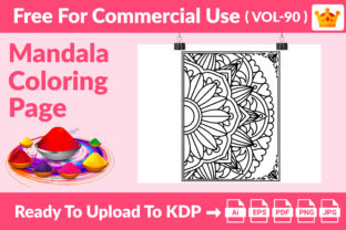 Mandala Coloring Page KDP Interior Graphic Coloring Pages & Books Adults By Md Abu Saeid