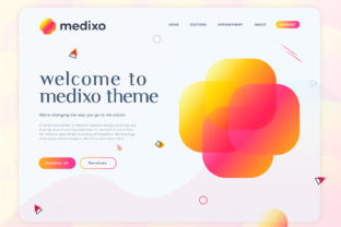 Medica Website Landing Page & Logo Graphic Landing Page Templates By mdrasel00