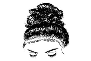 Print on Demand: Messy Bun Mom Life Hairstylist Messy Hair Graphic People By lemonpoo8
