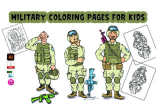 Military Coloring Pages for Kids Graphic Coloring Pages & Books Kids By Moonz Coloring