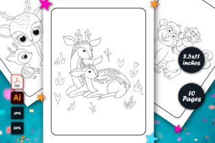 Mothers Day Animal Coloring Page for Kid Graphic Coloring Pages & Books Kids By graphs_art