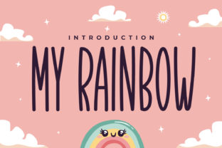 Print on Demand: My Rainbow Script & Handwritten Font By OKEVECTOR