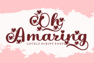 Print on Demand: Oh Amazing Script & Handwritten Font By bosstypestudio