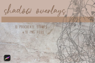 Plant Shadows Stamps for Procreate Graphic Brushes By art_in_myheart