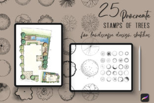 Procreate Stamps for Landscape Designers Graphic Brushes By art_in_myheart