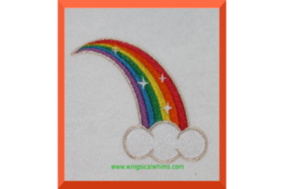 Rainbow Fairy tales Embroidery Design By Wingsical Whims Designs