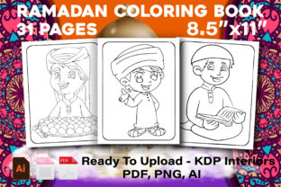 Print on Demand: Ramadan Coloring Pages - KDP Interiors Graphic KDP Interiors By Family Color