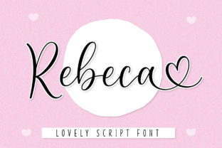 Print on Demand: Rebeca Script & Handwritten Font By AV Type