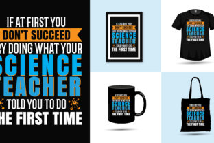 Print on Demand: Science Teacher Teaching T Shirt Vector Graphic Print Templates By Vectography