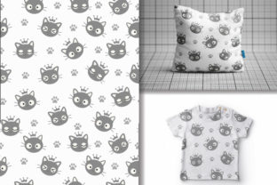 Seamless Pattern Kawaii Cats Graphic Patterns By lindoet23