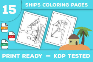 Print on Demand: Ships Coloring Pages Graphic Coloring Pages & Books Kids By Trend Color