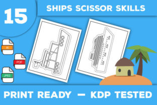 Print on Demand: Ships Scissor Skills Pages Graphic Coloring Pages & Books Kids By Trend Color