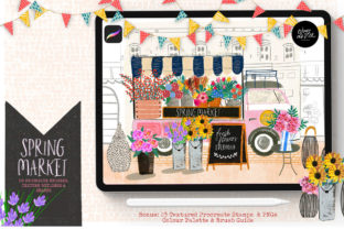 Spring Market Procreate Collection Graphic Brushes By OkayAnnie Designs