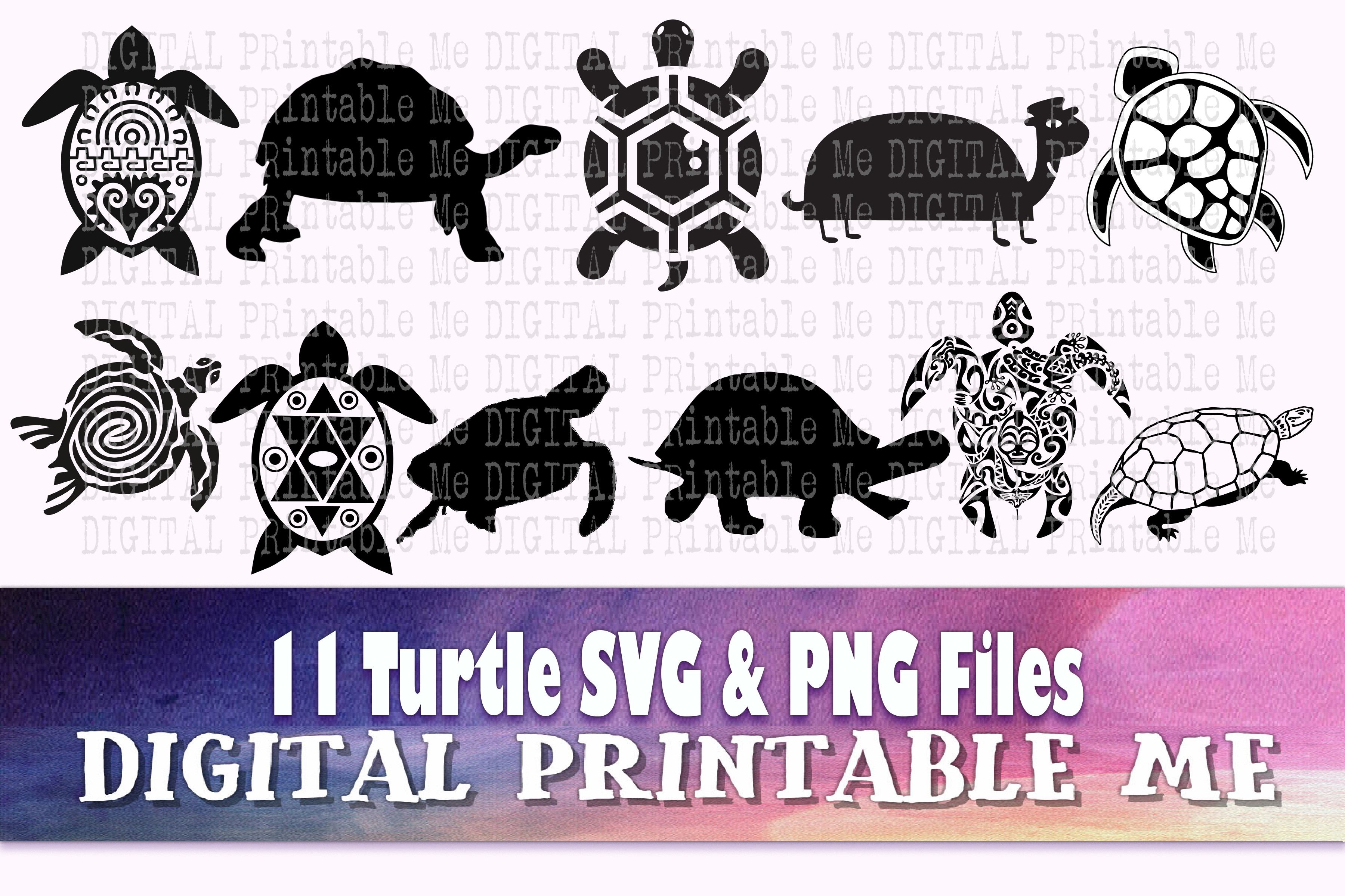 Turtle Silhouette, SVG Tortoise Png SVG File