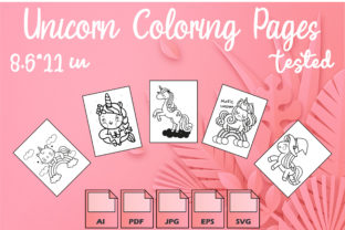 Unicorn Coloring Pages VOL 9 | KDP Graphic Coloring Pages & Books Kids By Kdp Speed