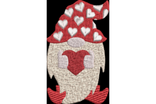 Valentine Gnome 1 Valentine's Day Embroidery Design By Wingsical Whims Designs