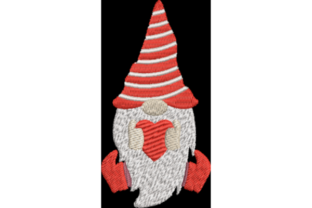 Valentine Gnome 2 San Valentín Diseños de bordado Por Wingsical Whims Designs