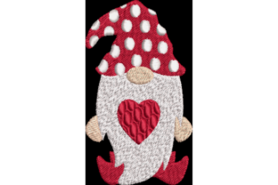 Valentine Gnome 3 Valentine's Day Embroidery Design By Wingsical Whims Designs