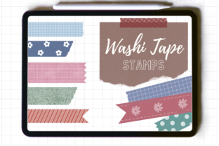 Washi Tape Stamp for Procreate Graphic Brushes By JumpeedaCrafts