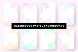 Print on Demand: Watercolor Pastel Backgrounds Collection Graphic Backgrounds By Dzyneestudio