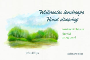 Watercolor Landscape. Blurred Background Graphic Backgrounds By Alenamilolika