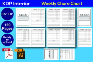 Print on Demand: Weekly Chore Chart KDP Interior Graphic KDP Interiors By Iqra Graphics Design