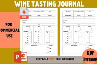 Print on Demand: Wine Tasting Journal | KDP Interior Graphic KDP Interiors By Cool Worker