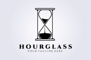 Print on Demand: Hourglass Logo Time Sand Dusk Unique Graphic Logos By Lodzrov