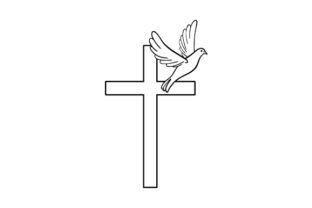 Cross with a Dove Religious Craft Cut File By Creative Fabrica Crafts