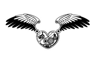 Steampunk Heart with Wings Steampunk Craft Cut File By Creative Fabrica Crafts 2