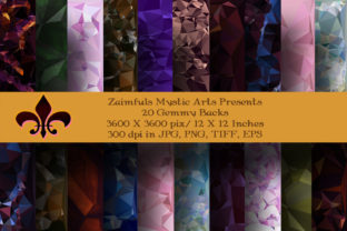 Print on Demand: 20 Gemmy Backgrounds Graphic Backgrounds By Zaimfuls Mystic Arts