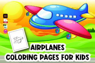 Airplane Coloring Page for Kids Graphic Coloring Pages & Books Kids By Moonz Coloring