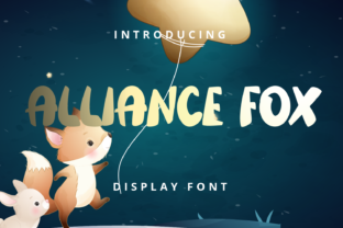 Print on Demand: Alliance Fox Display Font By Planetz studio