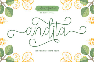 Print on Demand: Andita Script & Handwritten Font By bungletter